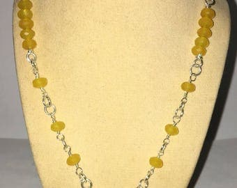 Natural Citrine gemstone .925 Sterling Silver necklace and bracelet set