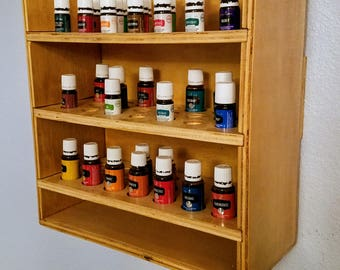 Handmade Essential Oil Shelf
