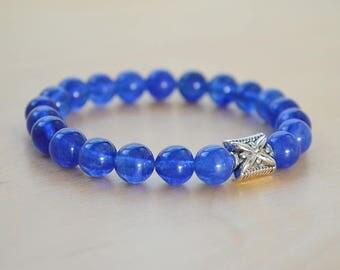 Quartz Yoga Bracelet, Mala Bracelet, Jewelry for her, Mens Bracelet, Bracelet Homme, Meditation Bracelet, Bracelet Femme, Wanderlust