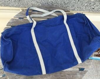 Homemade vintage travel bag