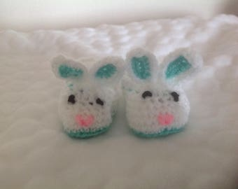 Baby bunny bootees/slippers