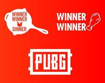 Player Unknown Battlegrounds Sticker Decals, PUBG, Winner Winner Chicken Dinner