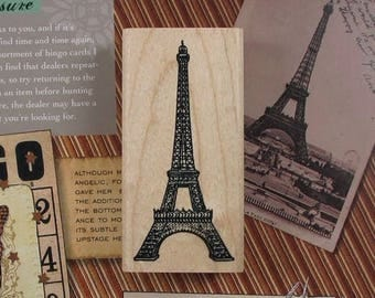 Wooden and rubber stamp Tour Eiffel