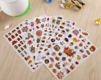 "Stickers 6 sheets set ""delicious food"""