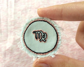 Astrological Star Sign Patch- Hand Embroidered