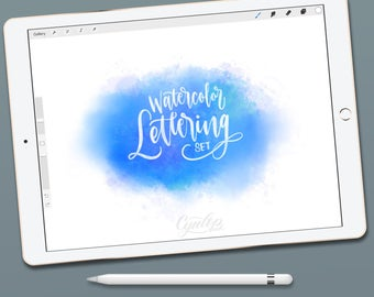 how to make a watercolour brush on procreate