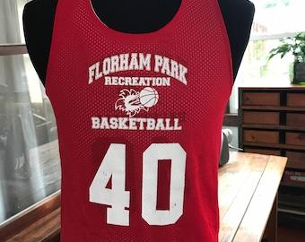 Vintage 1990's Basketball reversible mesh jersey