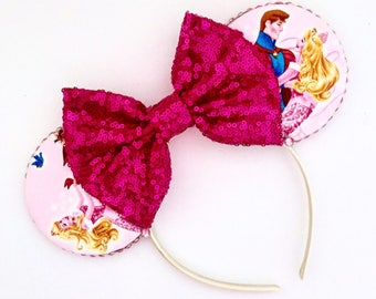 The Spinning Wheel - Handmade Aurora Sleeping Beauty Inspired Mouse Ears Headband