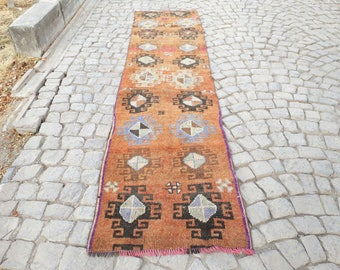 Runner rug Oushak Rug  Muted Color Rug 128 x 30 inches  Cappadocia Rug Pinkish Runner Rug Turkish Rug Turkish Runner Rugs
