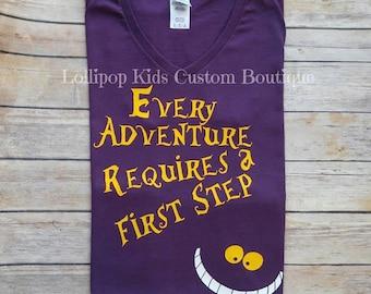 Cheshire Cat, Alice's Adventure in wonderland, short sleeve shirt