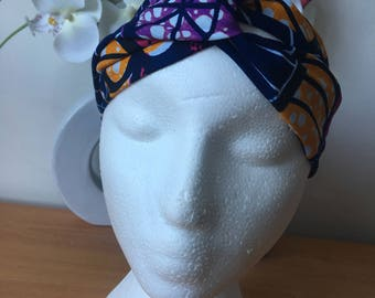 Wax turban style headband