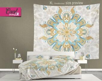 Mandala Tapestry, Boho Chic White  Wall Hanging 21