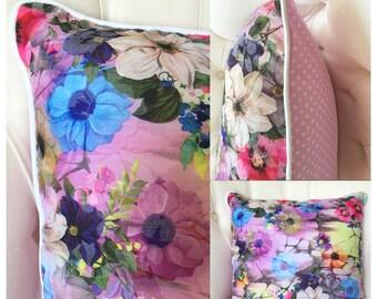 Cushion Cover // Floral Cushion // Country floral cushion
