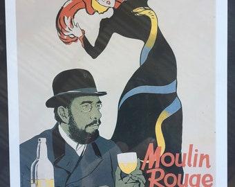 """Vintage Postcard Framed """"Moulin Rouge"""""""