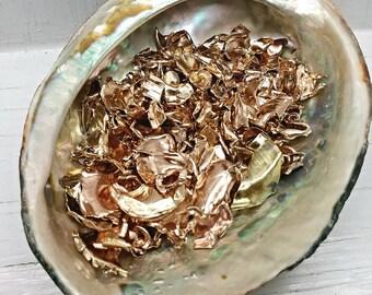 Orgonite Copper Shot-Crushed Copper & Brass Bullet Tips-Warm Copper Shavings-Metal for Orgonite-Orgone Metal-Brass for Orgonite Casting