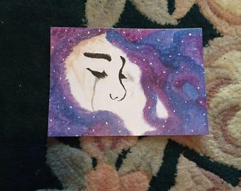 Galaxy Woman print