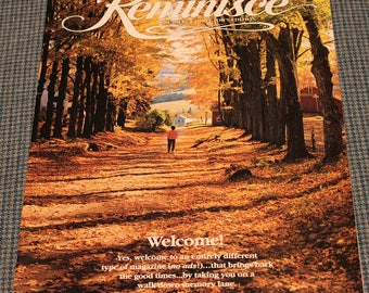1993 - Reminisce Magazine ~ Premiere Issue ~ Collector's Edition ~ Bringing Back the Good Times ~ Walk Down Memory Lane ~Vintage Collectible