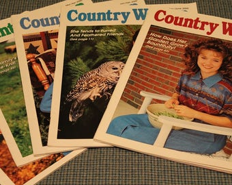 5 - Country Woman Magazines ~ Back Issues ~ Crafts ~ Decorating ~ Country Cooking Recipes ~ Gardening ~ Beautiful Photography ~ Collectible