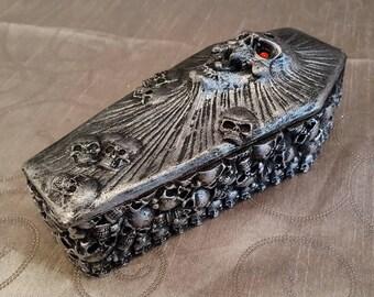 Skull Coffin Trinket Box