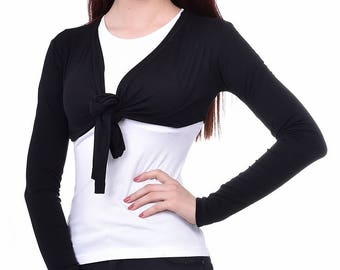 Bolero, Shrug, Black Shrug, Black Bolero, Fitted Bolero, Long Sleeves, Bolero Jacket, Bolero Jacket Shrug, Long Sleeve Shrug