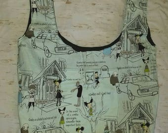 Zombie Apocalypse  Market Bag with Pockets