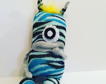 Monster, Toy Monster, Plush Monster, Sock Monster, Sock Critter, Creature, Charity monster, Buy one give one!