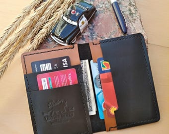 Bifold wallet Bifold card holder Leather wallet Slim wallet Mens wallet Husband gift Anniversary gifts wallet for him Wedding gift