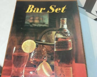 Vintage Bar Tools Utensils Wood/Gold Insert Handles SAVE        FREE SHIPPING