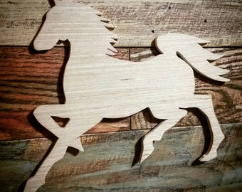 Horse Cutout, Horse, Horse Figurine, Wooden Horse Crafts, Wooden Horse, Animal Figurines, Unfinished Horse Crafts, Unfinished Crafts