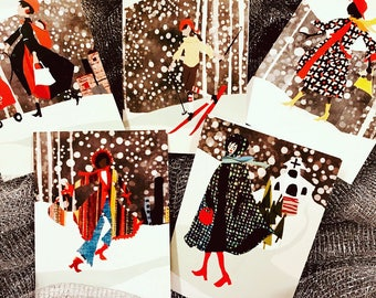 Snow Girls Holiday Christmas Cards