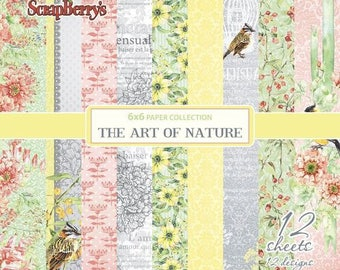 12 papers 15.2 x 15.2 cm SCRAPBERRY's THE ART OF NATURE
