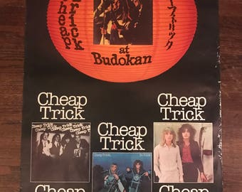 vintage cheap trick at budokan poster!