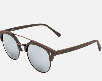 Veener wood SUNGLASSES Personalized Retro Metal Polarized Lenses Boho Boyfriend Gift Personalised Bamboo Style Summer Eyewear Gift Mens