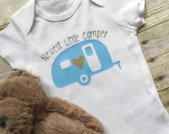 Newest Little Camper Onesie,Baby Clothes,Birth Announcement,Newborn Onesies,Baby Onesie,Newborn Clothes,Baby Outfit, Newborn Shirt