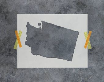 Washington State Stencil - Hand Drawn Reusable Mylar Stencil Template