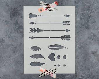 Arrow Kit Stencil - Reusable DIY Craft Stencils of an Arrow Kit