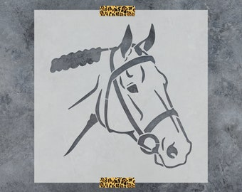 Horse Head Stencil - Reusable Stencil of Horse Head