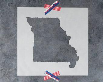 Missouri State Stencil - Hand Drawn Reusable Mylar Stencil Template