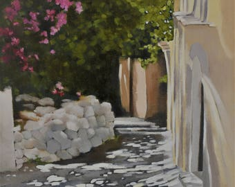 TUSCAN ALLEY WAY 11x14 oil painting tuscan art