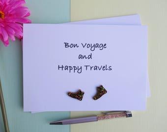 Bon Voyage Card - Happy Traveler - Good Luck Card - Travelling Card - Goodbye Card - Gap Year - Bon Voyage - Emigrating - Leaving Card
