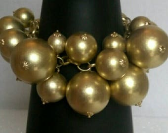 Gold Beaded Chunky Bracelet, Accessories, Fashion Jewelry, Hand Made Jewelry, Beaded Jewelry, Boutique