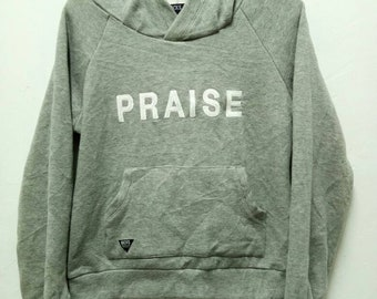 "Vintage Backs hoodies ""praise"" embroided / pull over / jumper / grey / F size"