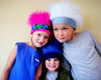Trolls hair / Trolls headband/ trolls dress up / handmade costume / Halloween costume