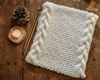 White knitted cowl - white knitted snood - knitted snood- knitted cowl - knitted scarf
