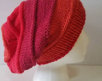 Orange and Red Simple Slouchy Hat
