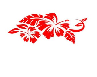 stickers for car deco hibiscus