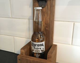 Handmade beer caddy