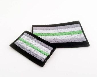 Agender Pride Flag, Agender Patch, Agender Flag, Pride Flag, Sew on Patch, Pride Flag Pin