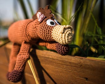Amigurumi horse / Crochet horse - Bullseye /