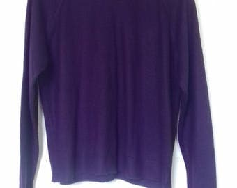 Ladies plum jumper by St Michael - Size Large